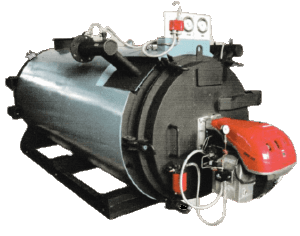 Oil and gas fired thermic fuel boiler