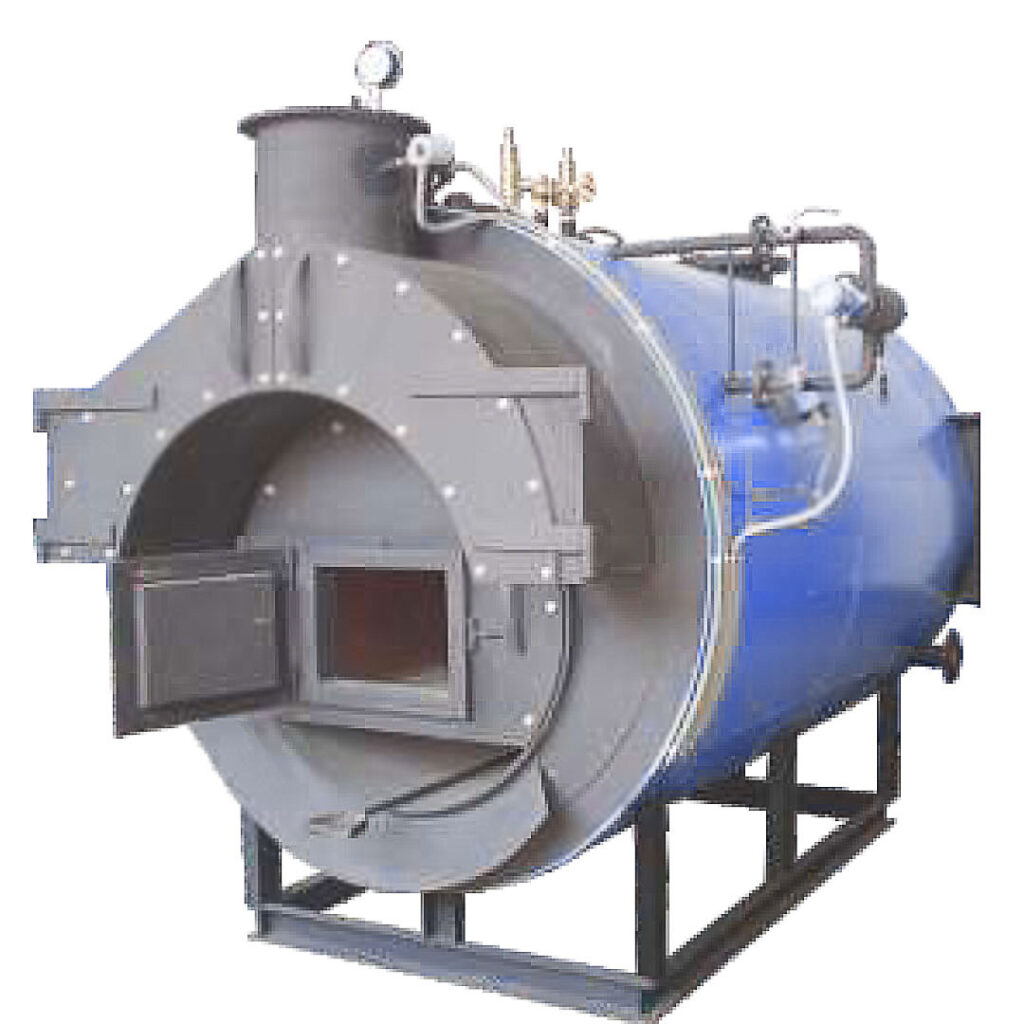 solid fuel fired horizontal hot water boiler