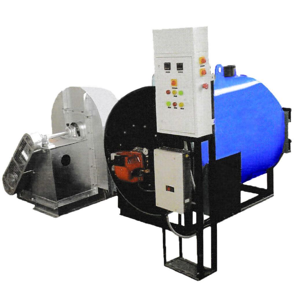 horizontal hot air boiler
